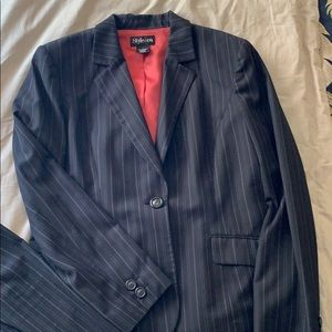 Pinstriped suit by Style & Co